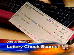 Health Lottery Odds >> Scam Alert: Fake Lottery Checks - The Early Show - CBS News