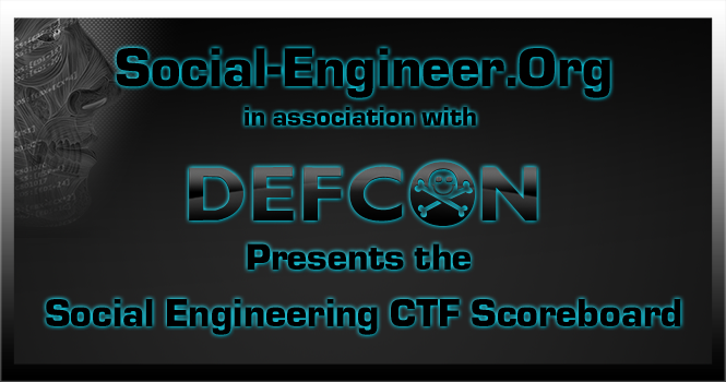 Social Engineering CTF Scoreboard