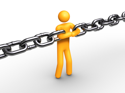 Person Serving as Link Between 2 ends of a chain